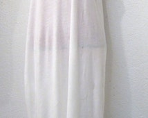 full length white cotton slip