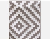 Tribal Tiles PDF Quilt Pattern - Modern Aztec Theme - Two Color Quilt - Solid Fabric Quilt - Crib, Toddler, Throw, Twin Size