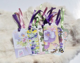 FLORAL GIFT TAGS Eclectic Styles Set Of 20 Floral Gift Tags Flower Gift Tags