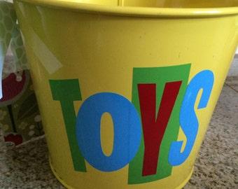 Kids toy bucket gift pail kids storage