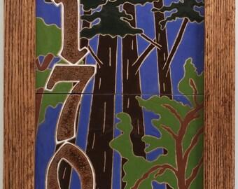 Redwood address tile