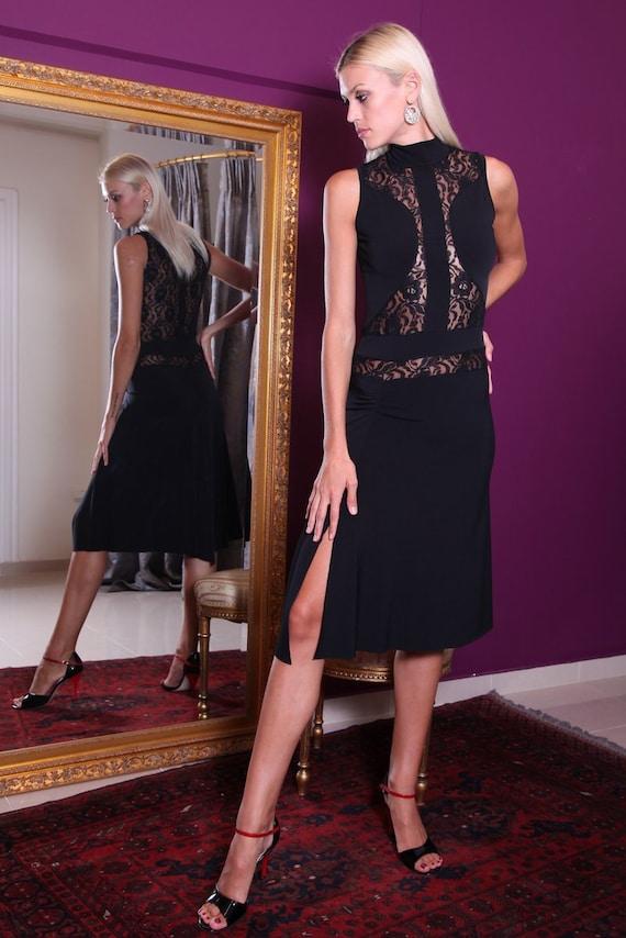 Elegant Milonga Dress with Lace Details, Evening Dress, Tango Clothing ...
