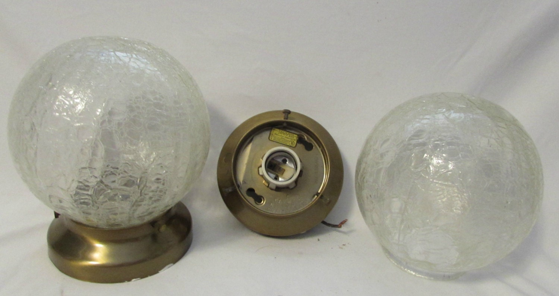 light fixtures crackle glass globes base plate and wiring. Black Bedroom Furniture Sets. Home Design Ideas