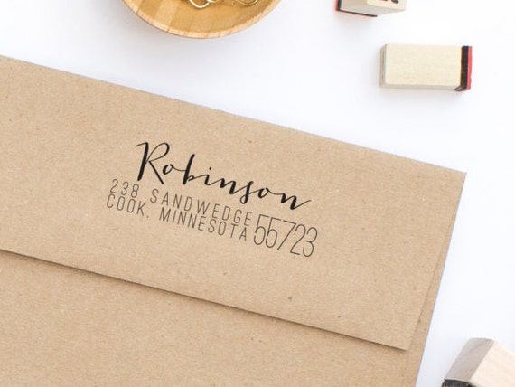 Return Address Stamp Calligraphy Address Stamp Personalized