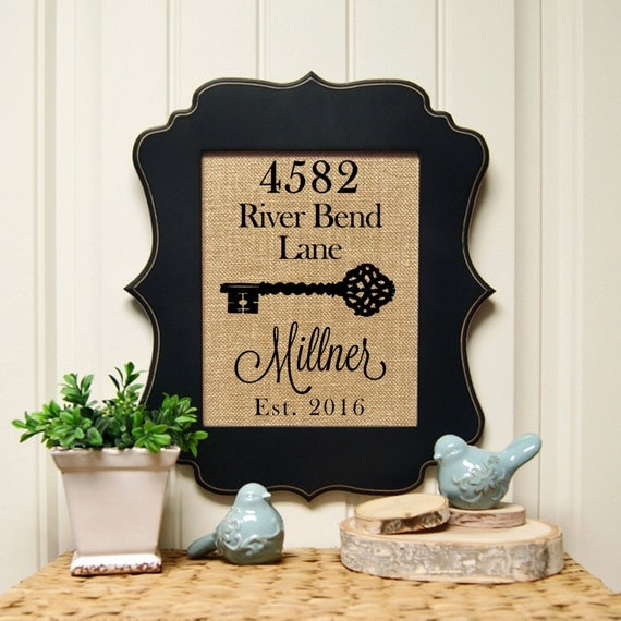 Personalized Housewarming Gift New Home By Sandybranchcompany