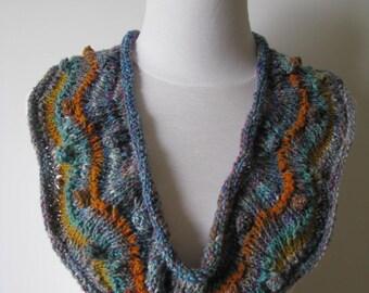 "Instant Download Knitting Pattern ""Kura"" Knitted Scarf Noro Yarn Kibou Summer Scarf"