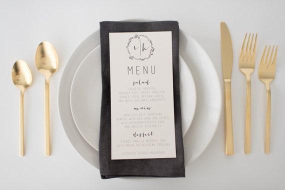 ruby wedding menus (sets of 10)  // lola louie paperie