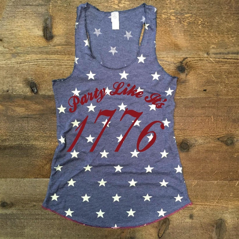 S Xl Party Like It S 1776 Vintage Washed Tank In Faded