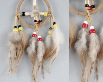 Small Medicine Wheel, Native America Style Wheel of Medicine, Native Wisdom Object, Four Directions Wheel, Four Colors