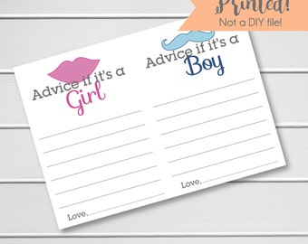 Gender Reveal Party Advice Cards - 20pk, Advice Cards for the Parents To Be, Advice Card for the Mom To Be (Advice119)