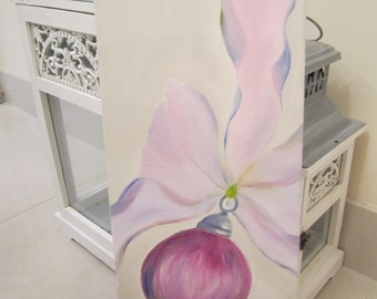 Bauble, Xmas, oil painting, original painting, wife gift, mum gift, daughter gift, bauble painting, Xmas gift, new home gift, Xmas painting