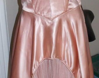 Sale Vintage 40's  Strapless Satin Evening Gown