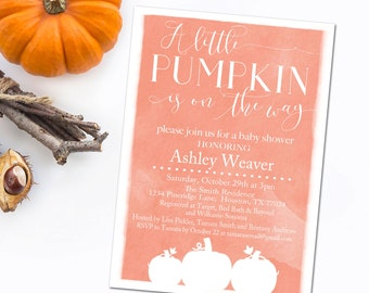 Pumpkin Baby Shower Invitation, Fall Baby Shower Invitation, Baby Shower INSTANT DOWNLOAD, DIY Invitation