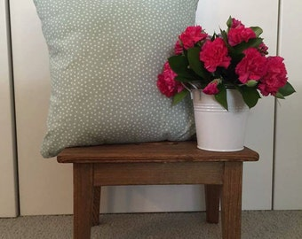 Blue Spotted Cushion