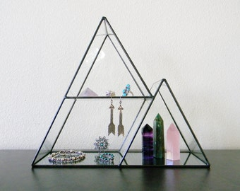 Stained Glass Mountain  Range Display Shelf - Made to Order
