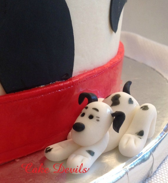 Digging Dog Cake Decoration : Fondant Dalmatian Dog Cake Topper Dalmatian Cake Decorations