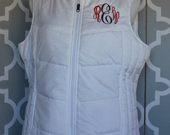 Monogrammed Puffy Vest--CLOSEOUT--While they last!