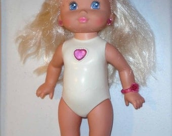 Vintage PJ Sparkles Doll 1988 Works! light up bow and jewelry