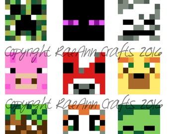 Minecraft Digital Collage Sheet