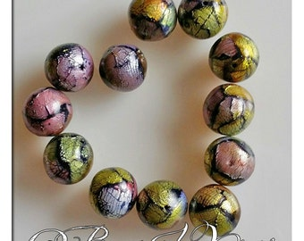 Polymer Clay Faux Dichroic Glass Beads