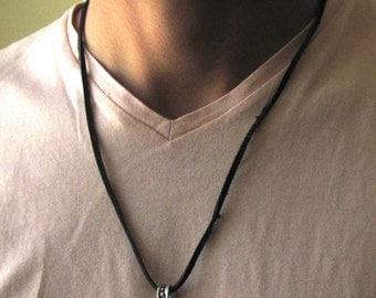 Men's Ring Necklace - Men Silver Necklace - Mens Necklace - Mens Jewelry - Necklaces For Men - Jewelry For Men - Men's Gift