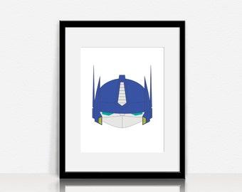 Transformers - Autobots / Optimus Prime - Graphic Wall Art - Digital Instant Download