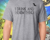 "Game of Thrones / Tyrion's Creed / ""I Drink and I Know Things"" / Gray Men's Tee"