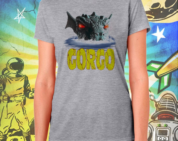 GORGO Britain's Godzilla Gray Women's Tshirt