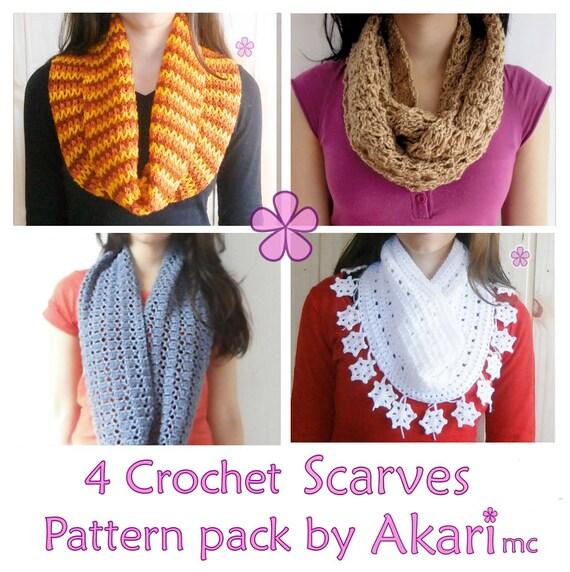1 pattern FREE. 4 Crochet Circle Scarves Patterns. 2 lacy