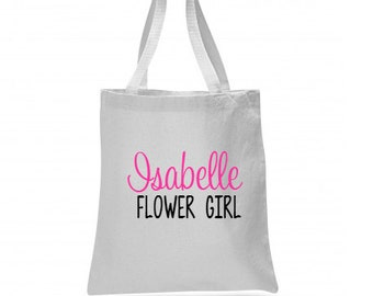 Flower Girl Tote Bag, Flower Girl Tote, Flower Girl Gift, Tote Bags