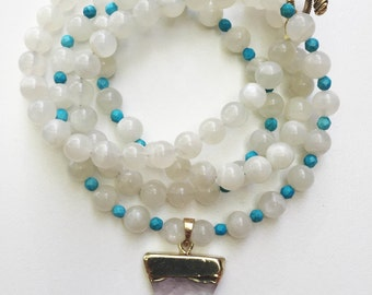 moonstone with turquoise accents