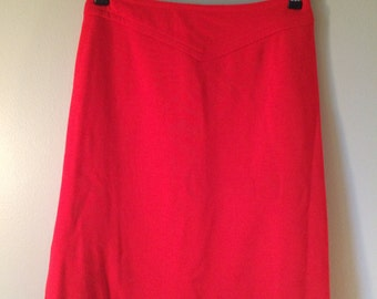 Vintage Red Bombshell Skirt // 1960's Red Pencil Skirt