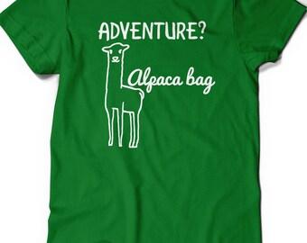 Funny Alpaca Llama Shirt Punny Tee Mens Womens Ladies Humor Birthday Gift Ideas Geek Nerdy Puns Geekery Llamas Picnic Lunch Cute Humorous
