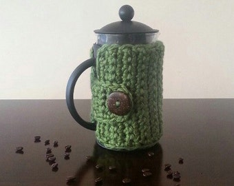 Green French Press Cozy - Coffee Press Cozy - Custom Colors Available