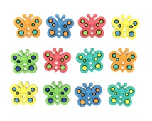 Sew Cute Butterflies Jesse James Tiny Butterfly Sewing Button Assortment DIY Hair Bow Jewelry Dress Accent Orange Pink Yellow Mint Lime Blue