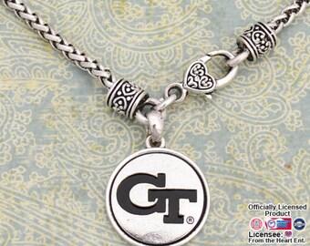 Georgia Tech Yellow Jackets Medallion Clasp Necklace