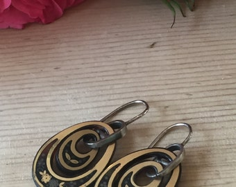 A Pair of Early Victorian Tortoiseshell Earrings