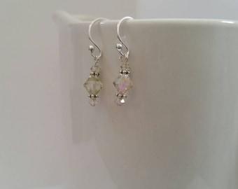 Swarovski Crystal Earrings, Luminous Green
