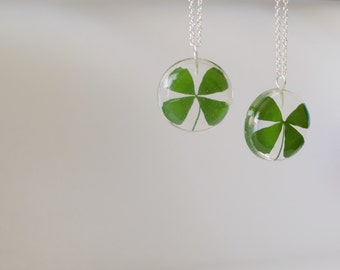Real four leaf clover necklace, St Patrick's day, 4 leaf clover jewelry, four leaf clover jewelry, four leaf clover pendant, lucky charm