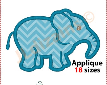 Elephant Applique Design. Elephant embroidery design. Embroidery elephant. Elephant applique. Elephant pattern. Machine embroidery design.