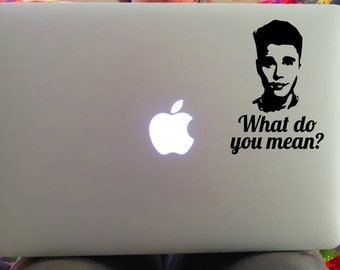 Justin Bieber Decal, Bieber Decal, What do you mean, Justin Bieber, Music Decal, Bieber Sticker, Yeti Decal, Car Decal, Laptop Decal
