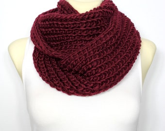 Knit Scarf Infinity Scarf Chunky Knit Scarf Winter Scarf Circle Scarf Women Scarves Wrap Scarf Oversized Knitting Christmas Gifts for her