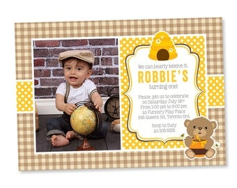 Teddy Bear Invitation, Teddy Photo Invitation, Teddy Bear Party, Party Invitation, Teddy Bear, First Birthday, Teddy Bear Theme Birthday,