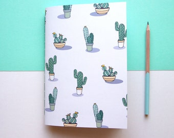 A5 Notebook / Cactus Notebook / Cute Stationery / Back to School / Exercise Book / Cute Notebook
