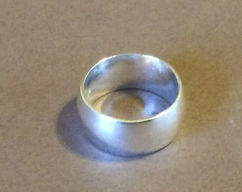 Size 9 Sterling Silver Thick Wide Band Ring