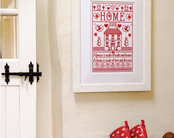 La Maison Rouge Sampler Cross Stitch Chart Download