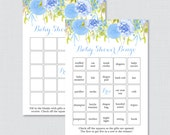 Blue Floral Baby Shower B...