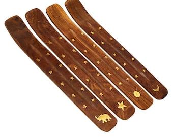 Incense Holder   Wood/Brass Incense Holder   Wooden Incense Burner