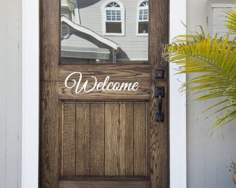 Welcome Front Door Decal