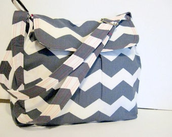 CROSS BODY CHEVRON Purse, Chevron Handbag, Pleated, Adjustable Strap,Pink Lining, Other Colors Available